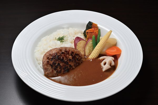 キッチン飛騨筏橋店 粗挽き肉バーグカレー