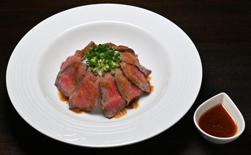 お知らせ:限定メニュー「飛騨牛ローストビーフ丼」の盛付変更します